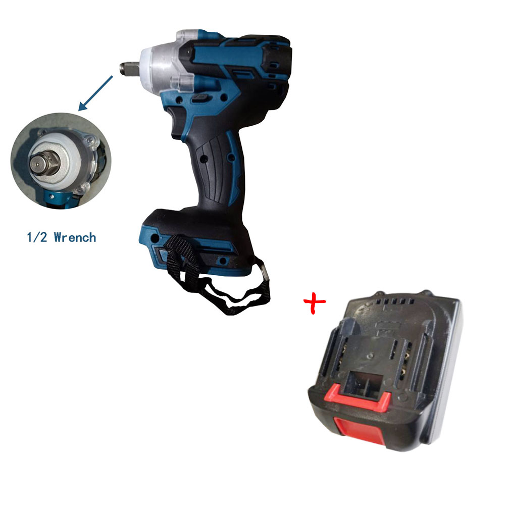 520Nm Electric Impact Wrench 18650 Battery Cells Adapted To 18V Makita Battery Electric Rechargeable Brushless Impact Wrench