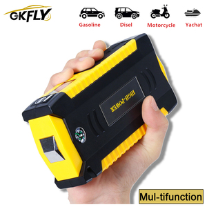 GKFLY High Capacity Car Jump Starter Power Bank 12V Portable Car Starter Starting Device Booster Starter with Cables Buster LED