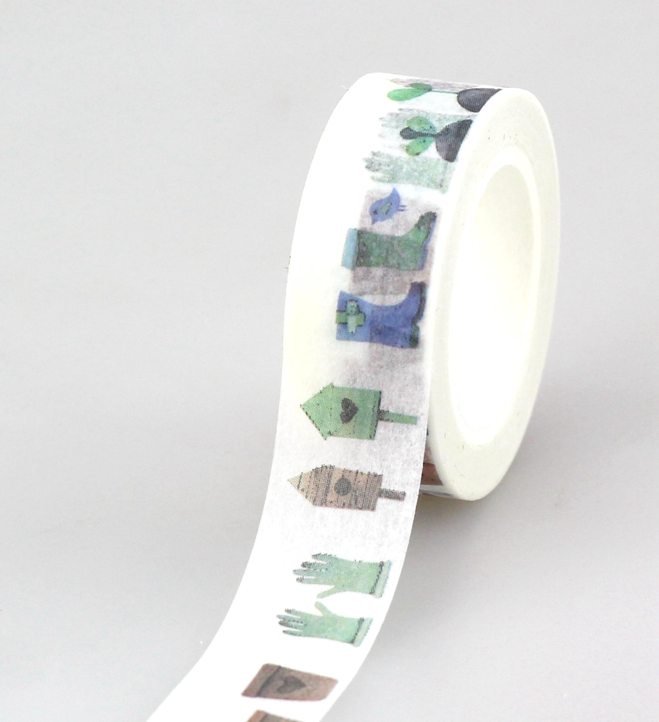 10pcs/lot Decorative Cute Birdhouses Washi Tapes Paper DIY Scrapbooking Planner Adhesive Masking Tapes Kawaii Stationery