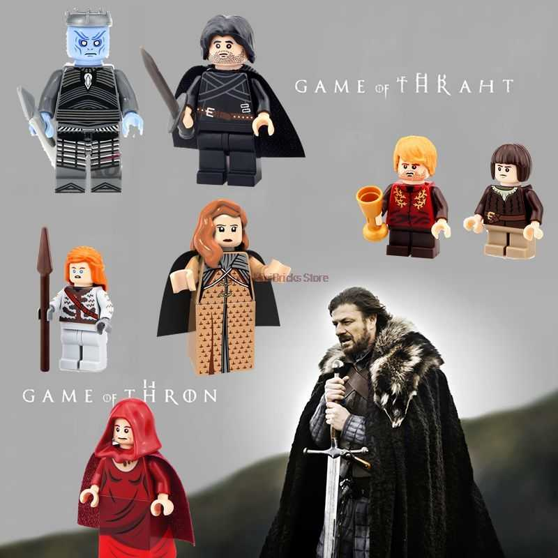 Throne Series Game Toys King Jon Snow Khal Drogo Ygritte Arya Daenerys Aciton Figures DIY Building Blocks Gifts Toy For Children