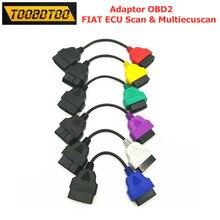 Cabo de diagnóstico para fiat ecu único fio 6 cores adaptadores cabo para multiecuscan fiat ecu obd2 conector frete grátis
