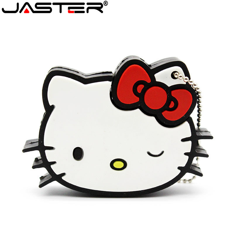 JASTER Hello Kitty Usb Flash Drive Pendrive 64GB 32gb Pen Drive 4gb 8gb 16gb Cartoon U Disk Flash Card Hot Sale Memory Stick
