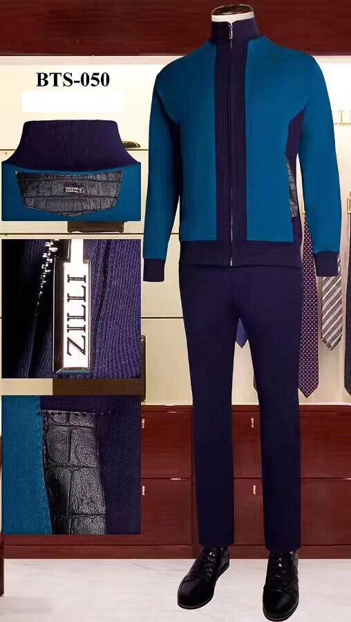 BILLIONAIRE Sportswear Set Cowhide Men 2019 New Fashion Zipper Cotton Embroidery Hooded Comfortable Big Size M-4XL Free Shipping
