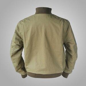 Image 2 - جاكيت جيب M41 بتصميم متماثل من FURY مصنوع من الصوف العتيق طراز WW2 معطف عسكري للرجال لخريف/ربيع الجيش ملابس خارجية من مقاس 36 44 #