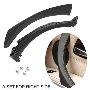 Image 2 - Mayitr 1set Black ABS Right Side Inner Door Handle Pull Trim + Cover For BMW E90 E91 316 318 320 325 330 335