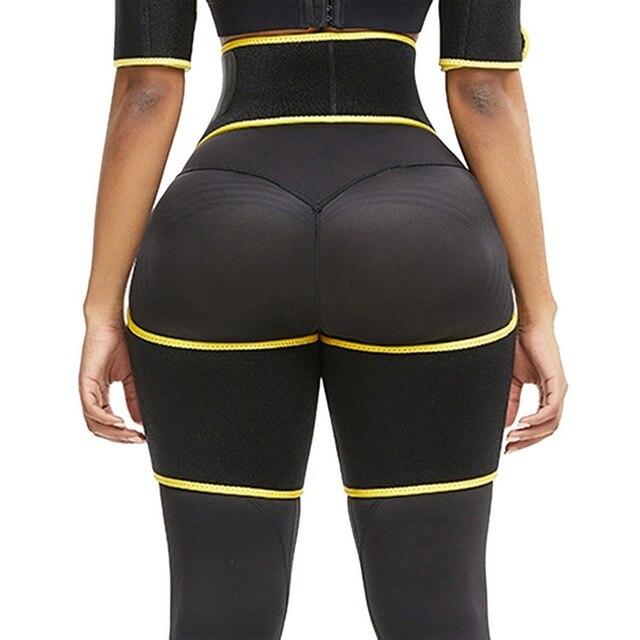 Women Neoprene Slimming Belt Sweat Body Leg Shaper High Waist Trainer Weight Loss Fat Belt Thigh Trimmer Body Shaper 3