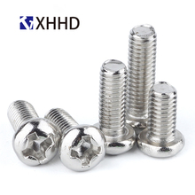 M2 M2.5 M3 M4 Pan Head Machine Screw Phillips Cross Recessed Metric Thread Round Head Bolt Iron Steel Nickel Plated m2 m2 5 m3 m4 phillips cross recessed pan head machine screw iron metric thread round head bolt black steel