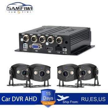Grabador de Video móvil Dvr para coche de 4 canales 4ch MDVR, sistema de cámaras de seguridad para coche Dvr, Kit de Camara para coche
