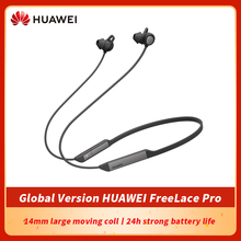 Global Version HUAWEI FreeLace Pro กีฬาหูฟังเสียงแฝงต่ำ24ชั่วโมง Active Noise Cancellation