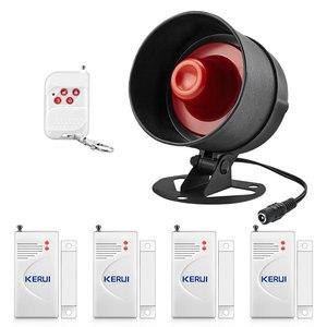 Image 1 - KERUI Home wykrywacz ruchu zestawy ochronne 100dB bezprzewodowy lokalny głośnik syreny System antywłamaniowy