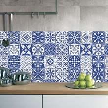 1 шт Средиземноморский стиль ПВХ плитка наклейки влагостойкие