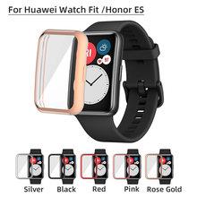 Чехол из ТПУ для huawei watch fit /honor es защитное стекло