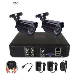 Система видеонаблюдения CCTV безопасности Камера видеозаписывающее устройство 4CH видеорегистратор AHD Открытый комплект Камера 720P 1080N HD ночно...