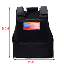 Military Airsoft Tactical Vest Molle Paintball Combat Assault Plate Carrier Tactical Vest Hiking CS Hunting American Flag Vest