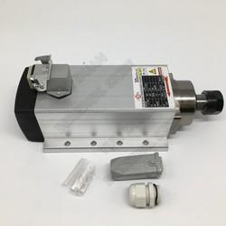 2.2KW wrzeciono chłodzone powietrzem silnik ER20 AC220V/380 V 3HP łożyska ceramiczne uchwyt montażowy do maszyny do grawerowania CNC Router Wrzeciono obrabiarki    -