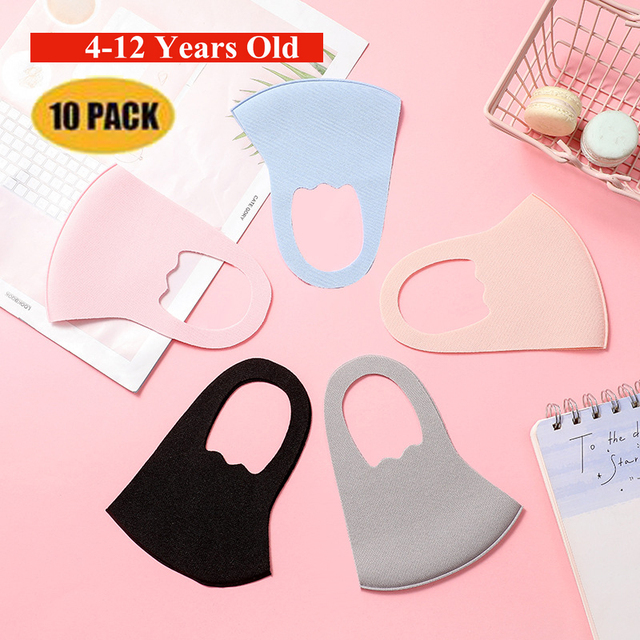 10pcs Pattern Child Face Masks For Girl Boy Kids Washable Reusable Anti PM2.5 Cotton Mouth Masks Anti Dust Earloop Mask 5