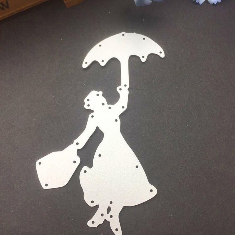 Shopping girl Metal Cutting Dies Stencils For DIY Scrapbooking Album Card~Decors