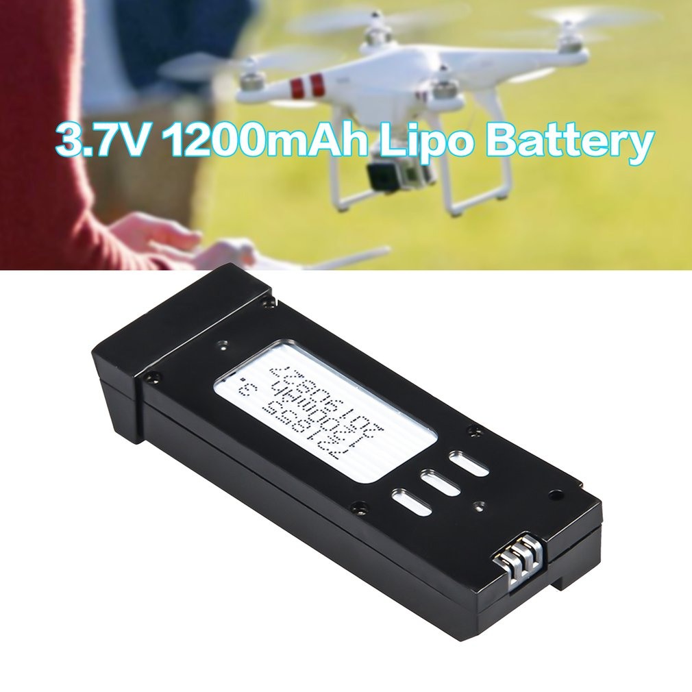 3Pcs <font><b>3.7V</b></font> 1200mAh <font><b>Lipo</b></font> <font><b>Battery</b></font> with <font><b>Charger</b></font> Units Cable For E58 JY019 RC Drone Spare Parts Replace Rechargeable <font><b>Batteries</b></font> image