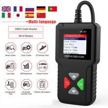 Herramienta de diagnóstico de coche, escáner Obd2 YA101, lector de código profesional de varios idiomas OBD 2, escáner automotriz PK ELM327, actualización gratuita