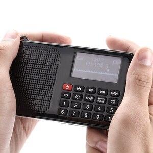 Image 5 - جديد الطاقة الشمسية المحمولة FM جيب سماعات راديو صغيرة تعمل لاسلكيًا مشغل موسيقى مع مصباح يدوي ، مؤقت النوم ، دعم بطاقة TF