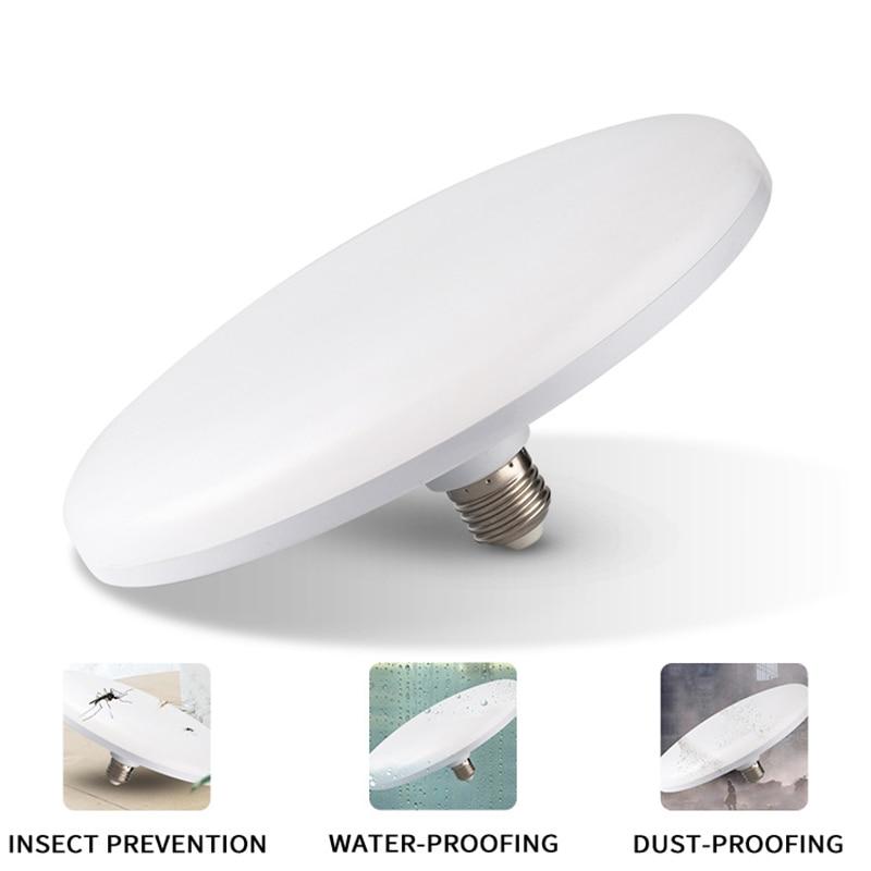 UFO E27 LED Bulb 15/35/45/55W 220V Ampoule Disc Shape Led Lamp Lights Bulbs For Home Lighting Spotlight Table Lamp For Ceiling