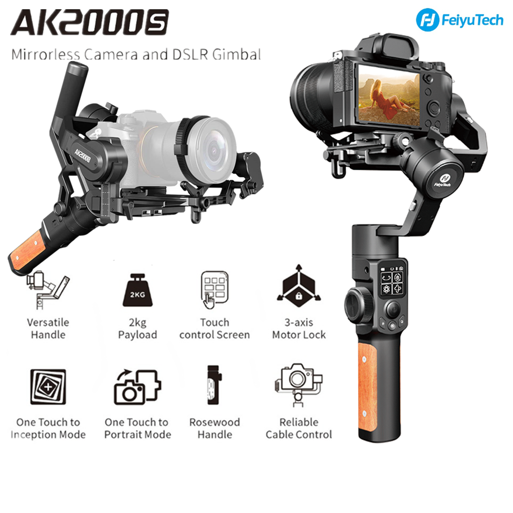 FeiyuTech Feiyu AK2000S DSLR Camera Stabilizer 3-axis Handheld Gimbal Video Estabilizador For Sony Canon 5D Panasonic GH5 Nikon