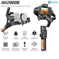 Feiyutech feiyu ak2000s dslr câmera estabilizador de 3 eixos handheld cardan vídeo estabilizador para sony canon 5d panasonic gh5 nikon Címbalos portáteis     -