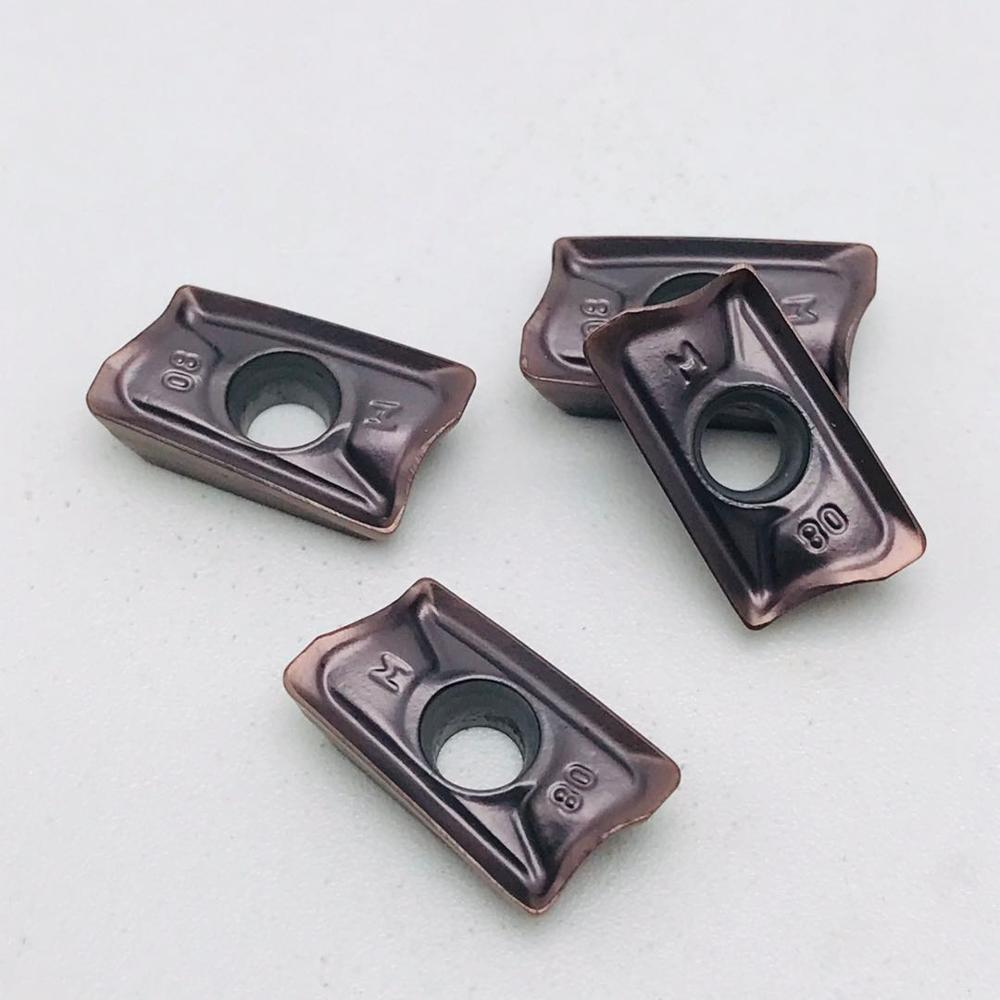 Купить с кэшбэком Carbide inserts AOMT123608 PEER M VP15TF CNC mechanical milling inserts AOMT123608 CNC machine parts milling cutter lathe cutter