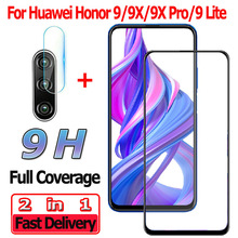 2 in 1 Screen Protector for Huawei Honor 9X Pro 9 Lite Tempered Glass Honor 9 X Pro Camera Lens Honor 9 Lite Protective Glass цена