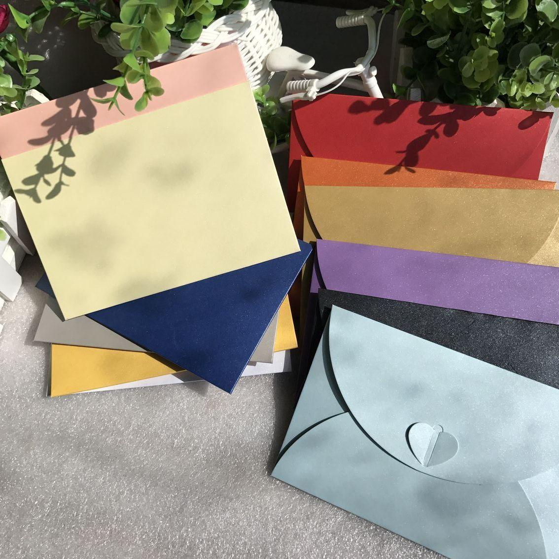 25PCS Classical White Black Kraft Blank BigPaper Window Envelopes Wedding Invitation Envelope Gift Envelope 17*5x11cm