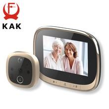 Kak 4.3 Inch Elektronische Deur Viewer Bell Ir Night Deur Camera Foto Video Record Digitale Deur Camera Smart Kijkgaatje Deurbel