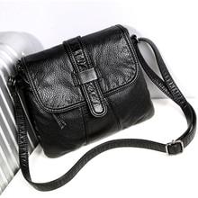 Soft leather Women Messenger bag casual womens shoulder Crossbody bag female handbag Black bolsa feminina girl bag