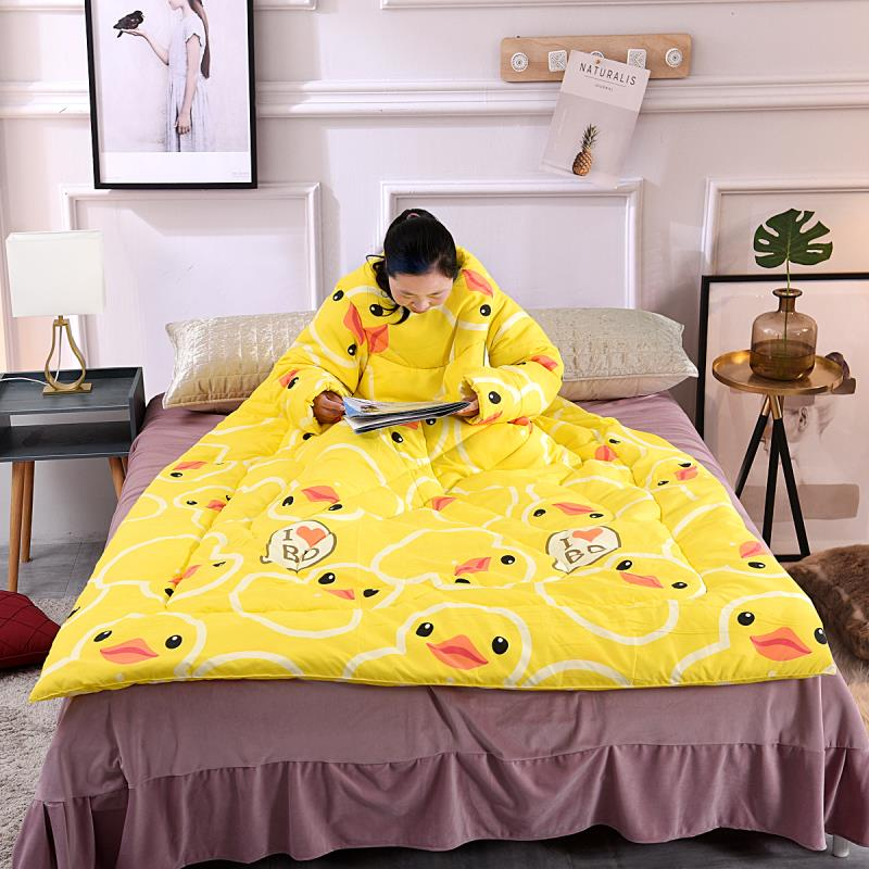 Amicable 1 Pcs Lazy Quilt With Sleeves Warm Thicken Blanket Multifunction For Home Winter Nap Products Hot Sale