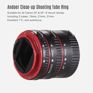 Image 3 - Andoer Macro Extension Tube Adapter Ring for all Canon EF EF S mount lenses TTL and autofocus Plastic macro extension tube canon
