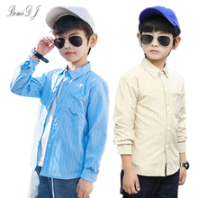 2021 Kids Shirts Spring & Autumn Long Sleeve Striped Toddler Shirts For Boys Cotton Fashion Baby Boy Tops Children's Clothing