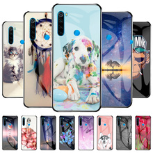 Protective Case For Xiaomi Redmi Note 8T Case Tempered Glass Cover Capa Redmi Note8T M1908C3XG Shell Flower Animal Fundas