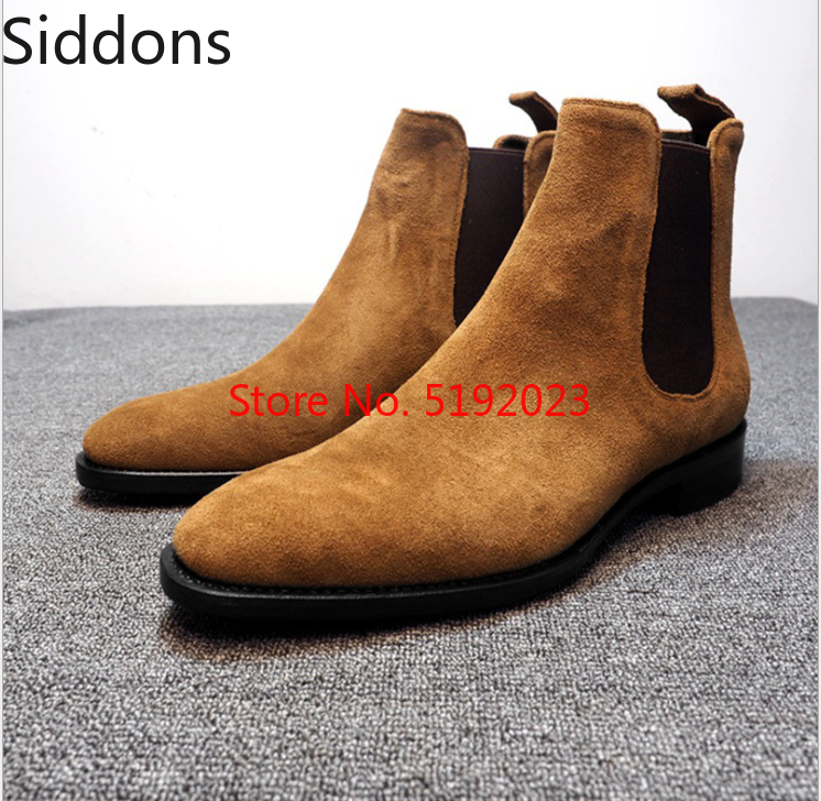 Chelsea Boots Men Winter With Fur Warm Vintage Classic Male Casual Boot Apatos De Hombre Fashion Shoes Men D306