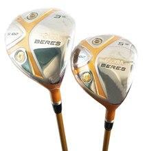 Cooyute Nieuwe mensen golfclubs HONMA S 02 4Star 3/15 5/18 Golf Fairway hout met Graphite Golf shaft hout set clubs gratis verzending