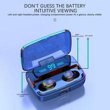 Gêmeos bluetooth 5.0 fone de ouvido sem fio duplo fones estéreo toque inteligente sem fio dropship fone sem fio