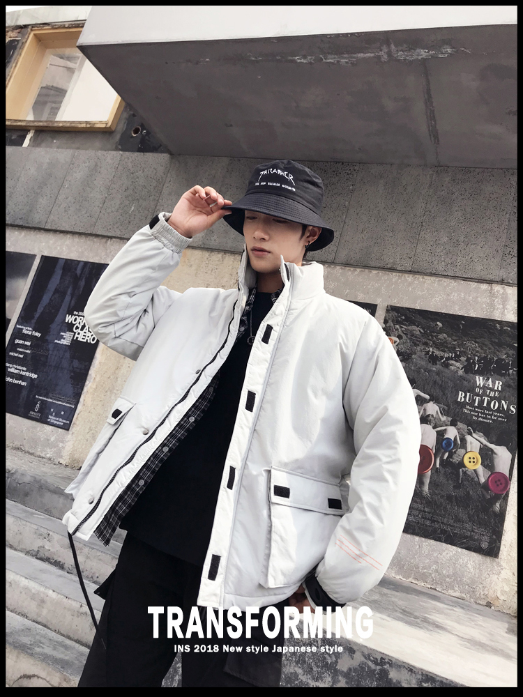 Men's Quality Student Winter Clothes Jacket Men Parka Thick Warm Outwear Korean Youth Streetwear Hip Hop Japan Style Harajuku 24