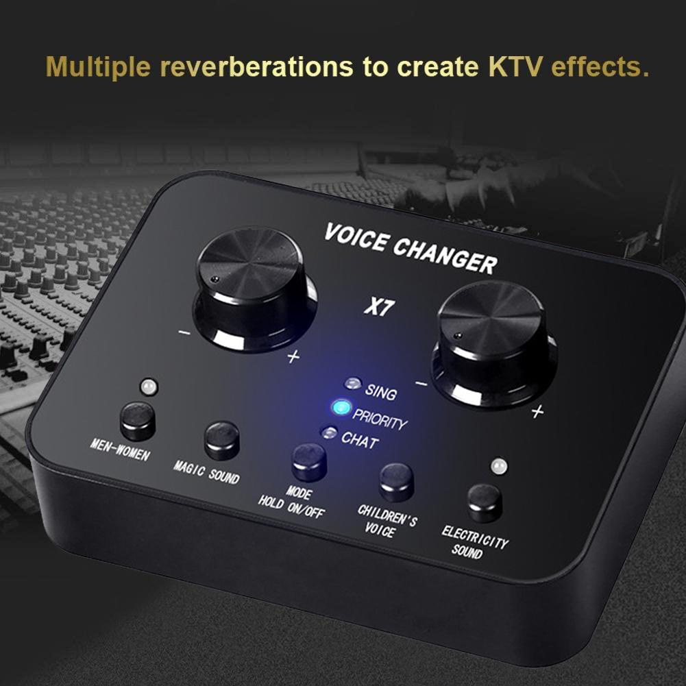 X7 Sound Card Audio Set Interface External Usb Live Microphone Sound Card Bluetooth Function For Computer Pc Mobile Phone Sing