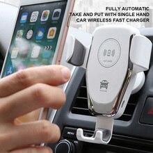 15W Nhanh Tề Xe Bộ Sạc Không Dây Cho Iphone Xs Max Xr X Se Samsung S10 S9 Không Dây Sạc Điện Thoại giá Đỡ Đầu Sạc