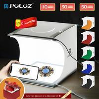 PULUZ 20 см мини фотостудия бестеневая лампа панель съемки белый свет палатка коробка аксессуары для фотосъемки estudio fotografico