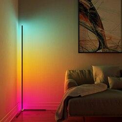Nordic led canto decoração lâmpada de assoalho quarto minimalismo atmosfera lâmpada quarto sala estar iluminação colorida luz em pé