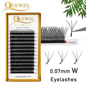 Quewel W Shape Eyelash Extensions 3D Premade Volume Fans W Style Lashes Comfortable New Volume False Eyelash Natural