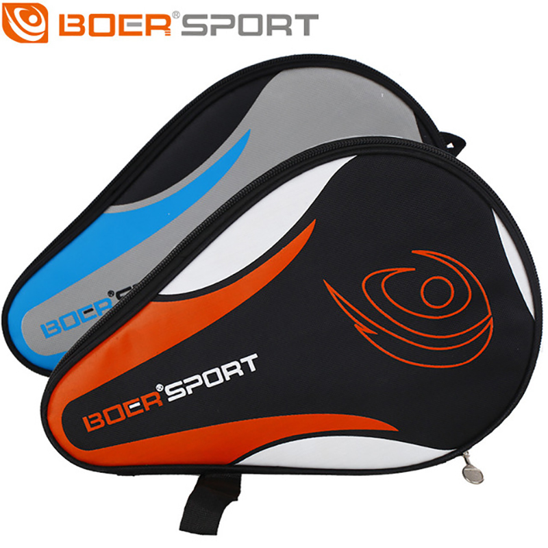 Boer One Piece Professional NEW Table Tennis Rackets Bat Bag Oxford Ping Pong Case Waterproof Dustproof Full Protection