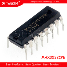 10Pcs MAX3232 MAX3232CPE MAX3232EPE Dip 16 RS 232