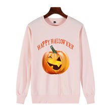 Happy Halloween New Women 100% Cotton pumpkin lantern Sweatshirt Fashion jack-o-lanterns Gift Womens Pullover