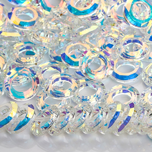 Shiny AB Angel Ring Crystal Bead 6/8/10/14/20mm Glass Round Beads With Big Hole For Jewelry Making Necklace Earrings Accessories