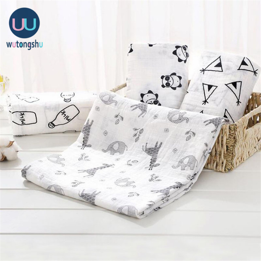Muslin Swaddles bebek battaniyeleri fotoğraf aksesuarları yatak yenidoğan kundak havlu Swaddles battaniyeler emzirme örtüsü